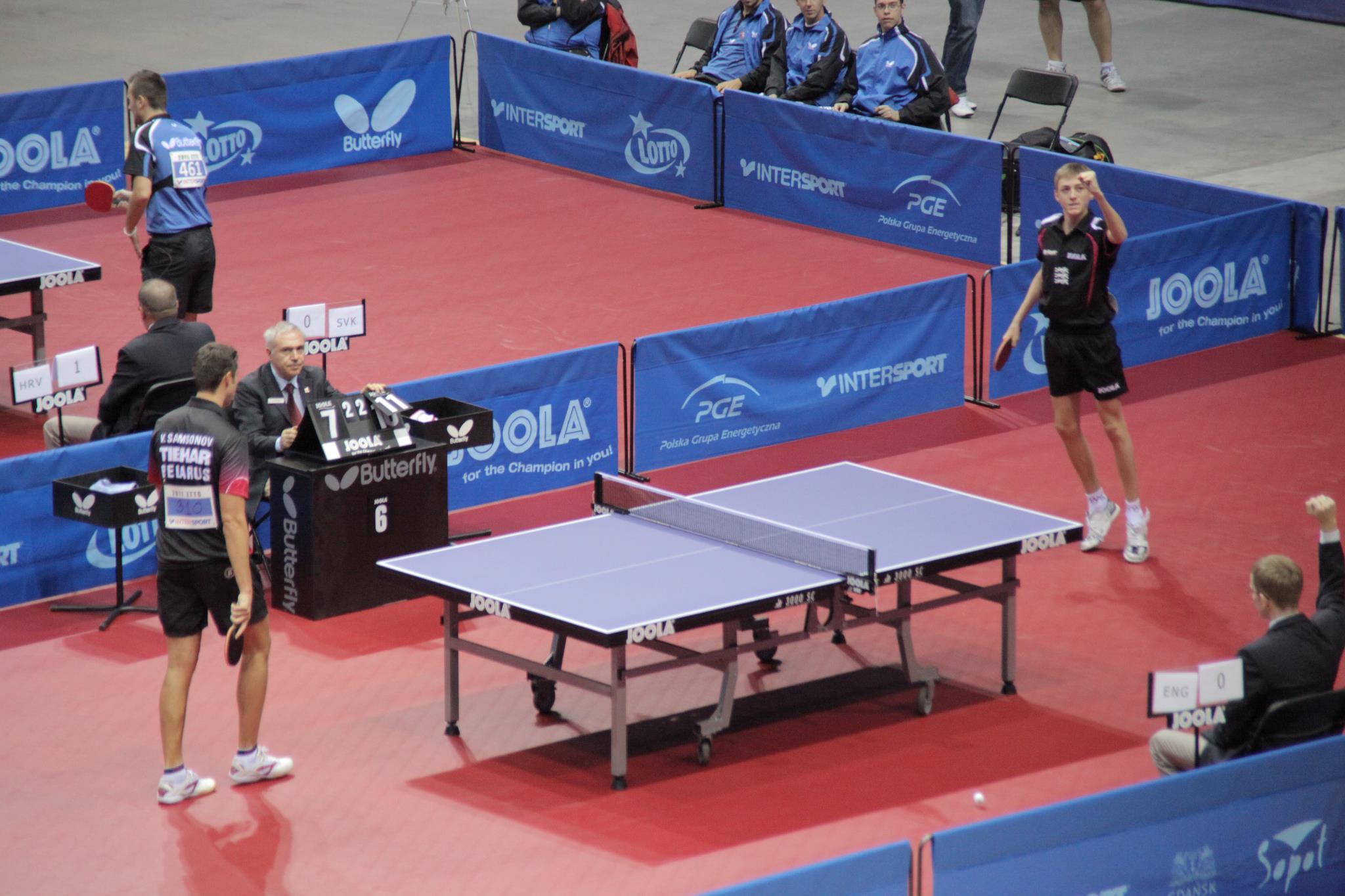 Tabletennisdaily liam pitchford win of his career video for Table 4 en 1 intersport